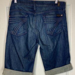 Woman's dojo Bermuda shorts 7 for mankind size 29
